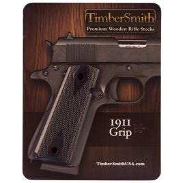 1911 GRIP TIMBERSMITH THE VETERAN BLACK LAMINATE