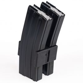 AR15 30RD 223 TWO STEEL MAGAZINES WITH CLAMP