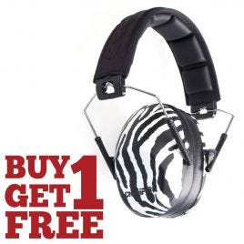CHAMPION SLIM EAR MUFFS PASSIVE ZEBRA 21DB