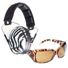 CHAMPION EAR MUFFS AND SHOOTING GLASSES EXOTIC SET