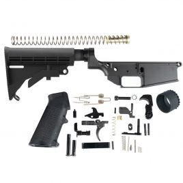 DPMS LR308 COMPLETE LOWER & STOCK GRAPHITE BLACK