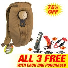 EAGLE IND RECON HYDRATION PACK BROWN 100 OZ