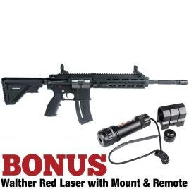 HK 416 22LR RIFLE WITH RED WALTHER LASER