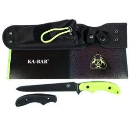 KABAR ZOMBIE DEATH DAGGER WITH 2 GRIPS