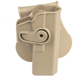 GLOCK 17 22 31 TAN RETENTION DEFENSE HOLSTER