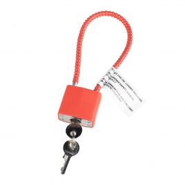 REGAL CABLE LOCK RED WITH 2 KEYS