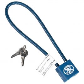 REGAL CABLE LOCK BLUE WITH 2 KEYS & FN LOGO