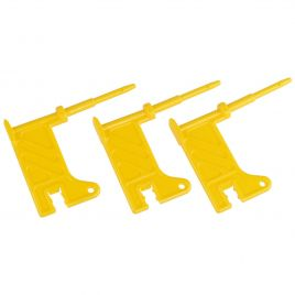 AR15 3 PACK EMPTY CHAMBER FLAG YELLOW