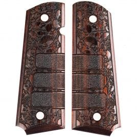 1911 GRIP ROSEWOOD LAMINATE WITH SKULLS