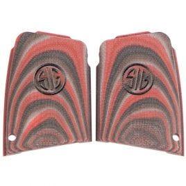SIG SAUER P290 G10 BLACK RED ENHANCED GRIPS