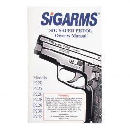 SIG SAUER PISTOL 220-245 40 PAGE OWNERS MANUAL