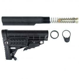 AR15 COLLAPSIBLE STOCK ASSEMBLY 6 POSITION STORAGE