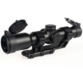 1X24 RIFLESCOPE BDC RED ILLUMINATED WITH MOUNT