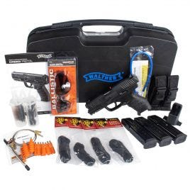 WALTHER CREED 9MM SHOOTING KIT WITH ACCESSORIES