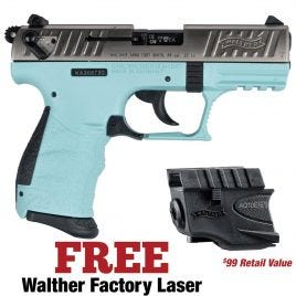 WALTHER P22Q 22LR ANGEL BLUE WITH FACTORY LASER
