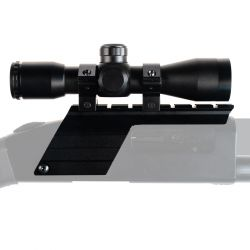 MOSSBERG 500 12GA MOUNT WITH 4X32 SCOPE & RINGS