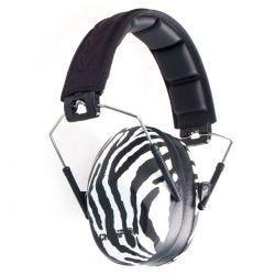 CHAMPION SLIM EAR MUFFS PASSIVE ZEBRA 21DB