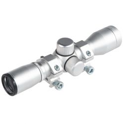 ULTIMATE ARMS 4X30 COMPACT SILVER SCOPE WITH RINGS